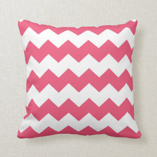Pale Red / Infa Red Chevron Pattern Cushion