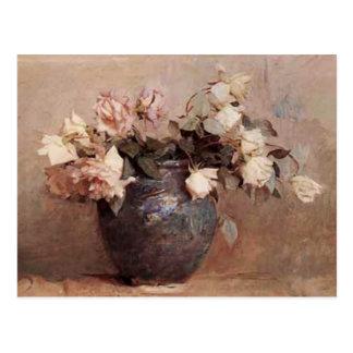 Pale Roses - Postcard