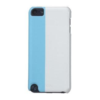 Pale Silver and Sky Blue iPod Touch 5G Case