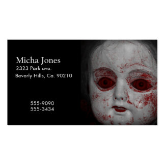 Pale Skin Doll With Blood Red Eyes Pack Of Standard Business Cards