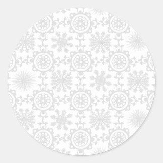 Pale Snowfill Round Sticker