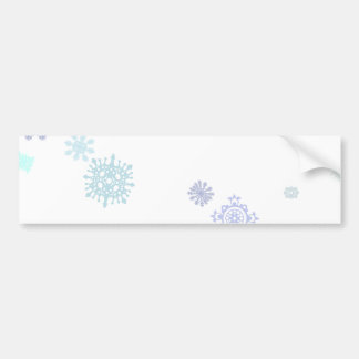 Pale Snowflakes Bumper Sticker