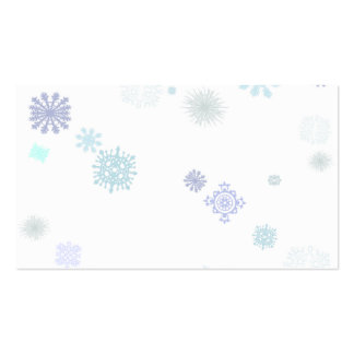 Pale Snowflakes Business Card Templates