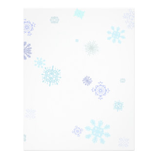 Pale Snowflakes Personalized Flyer