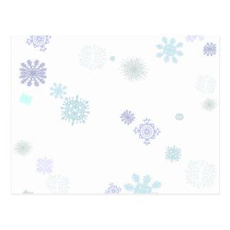 Pale Snowflakes Postcard