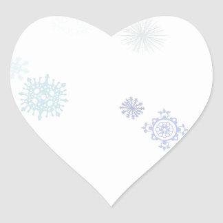 Pale Snowflakes Stickers