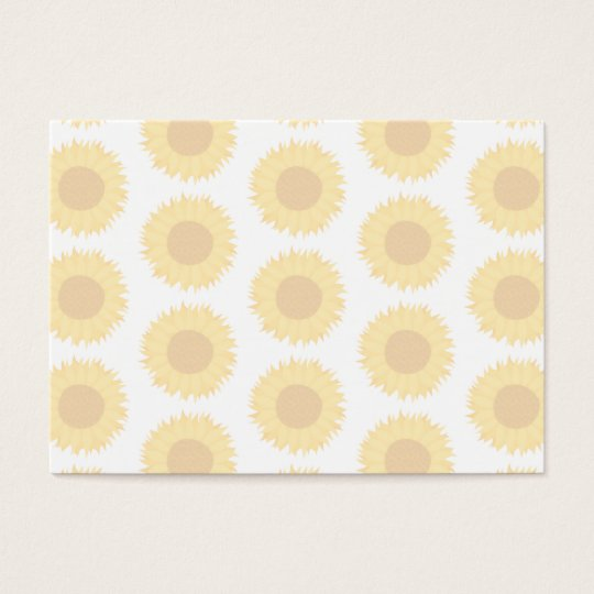Pale Sunflower Background Pattern. Business Card