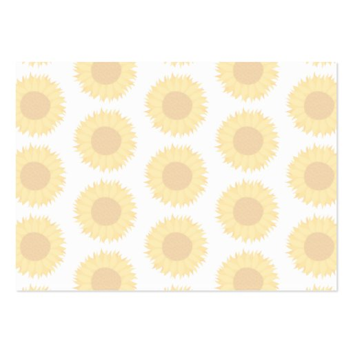 Pale Sunflower Background Pattern. Business Cards