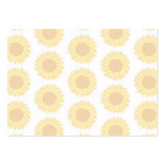 Pale Sunflower Background Pattern. Pack Of Chubby Business Cards