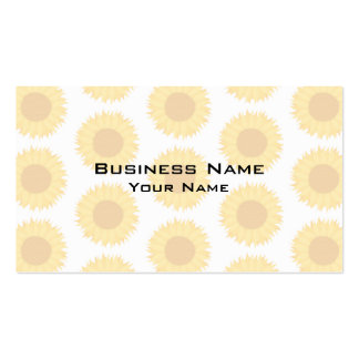Pale Sunflower Background Pattern. Pack Of Standard Business Cards
