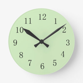 Pale Tea Green Wall Clock