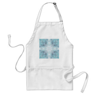 Pale Turquoise Pattern, with Some Soft Shapes. Standard Apron