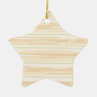 Pale Wood Background Ceramic Star Decoration