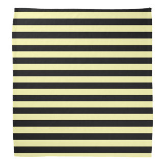 Pale Yellow and Black Stripes Bandana