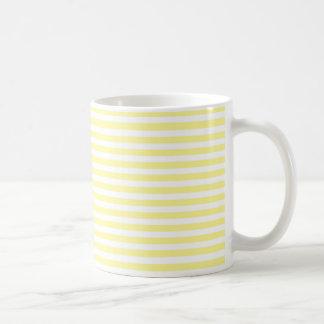 Pale Yellow and White Stripes Mug
