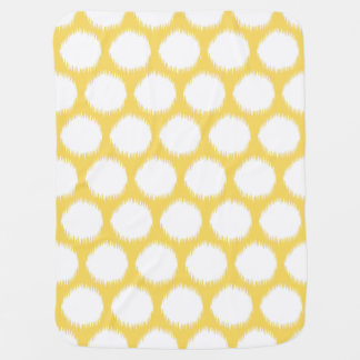 Pale Yellow Asian Moods Ikat Dots Buggy Blanket
