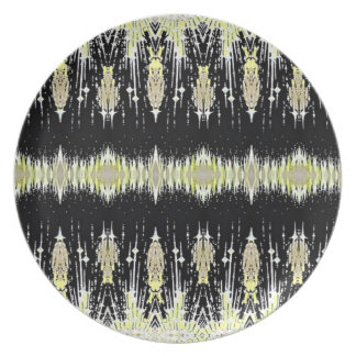 Pale Yellow Dazzle Dinner Plate