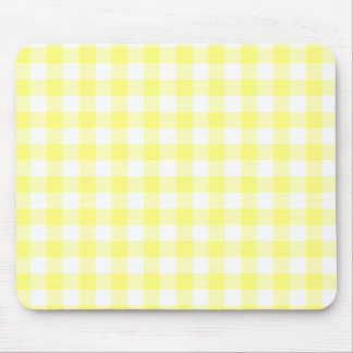 Pale Yellow Gingham Mouse Pad