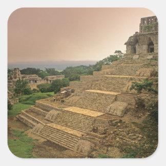 Palenque, Chiapas, Mexico, Maya Square Sticker