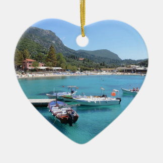 Paleokastritsa Beach, Corfu Christmas Ornament