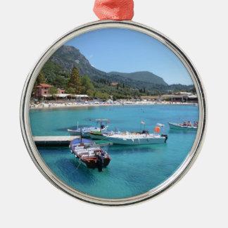 Paleokastritsa Beach, Corfu Christmas Ornament