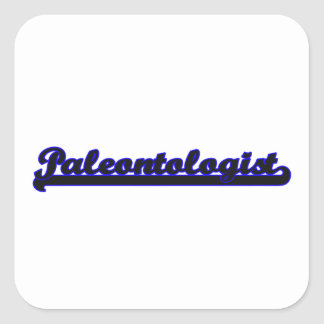 Paleontologist Classic Job Design Square Sticker