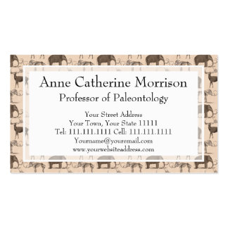 Paleontologist s Fun and Funky Woolly Mammoth Business Card