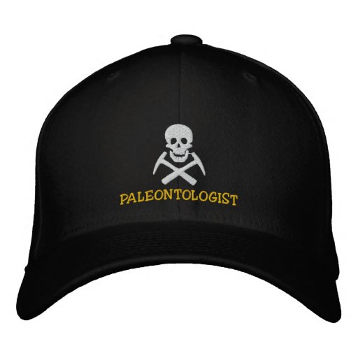 Paleontologist Skull and Cross Picks Embroidered Embroidered Baseball Caps