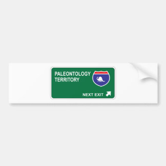 Paleontology Next Exit Bumper Sticker