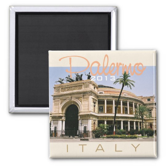 Palermo Italy Travel Photo Souvenir Fridge Magnets