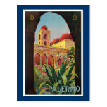 Palermo, Italy Vintage Travel Advertisement Postcards