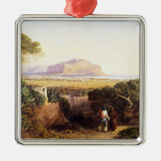 Palermo, Sicily, 1847 (oil on canvas) Christmas Ornament