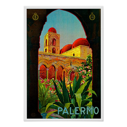 Palermo Sicily Italy Travel Art Poster