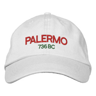Palermo Sicily Personalized Adjustable Hat Embroidered Hat