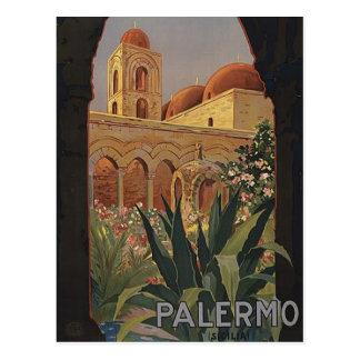 Palermo Sicily Vintage Travel Postcard