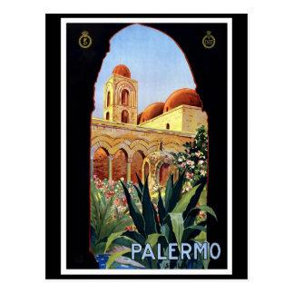 Palermo Vintage Travel Poster Postcard