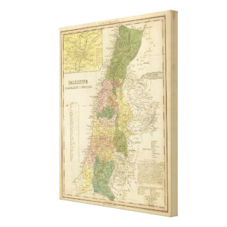 Palestine and Adjacent Countries 2 Canvas Print