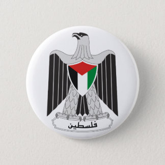 palestine coat of arms 6 cm round badge