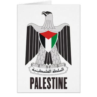 PALESTINE - emblem/flag/coat of arms/symbol Card