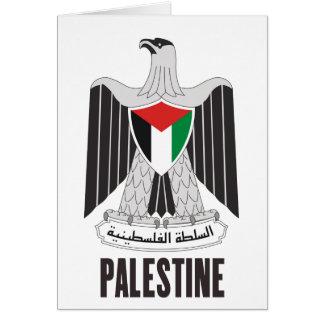 PALESTINE - emblem/flag/coat of arms/symbol Greeting Card