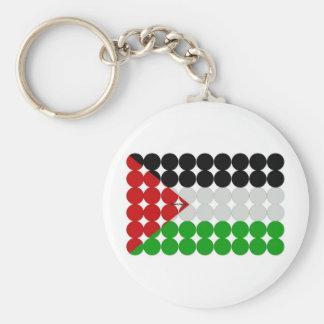 Palestine Flag Circles Key Ring