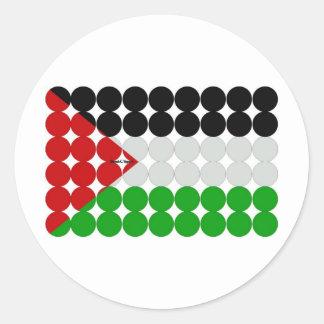 Palestine Flag Circles Round Sticker