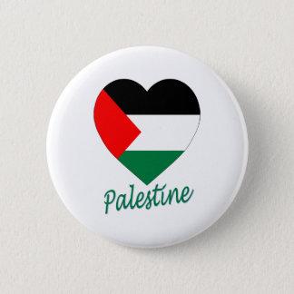 Palestine Flag Heart 6 Cm Round Badge