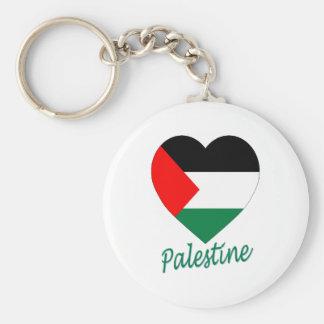 Palestine Flag Heart Key Ring
