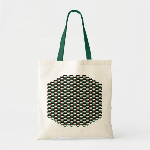 Palestine Flag Hearts Bag