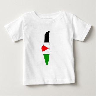 Palestine flag map baby T-Shirt
