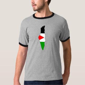 Palestine Flag Map full size T-Shirt