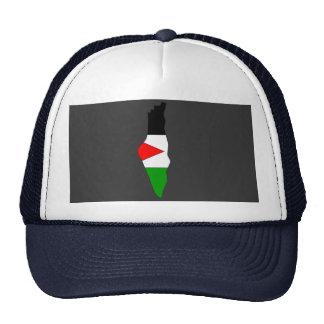 Palestine flag map mesh hat