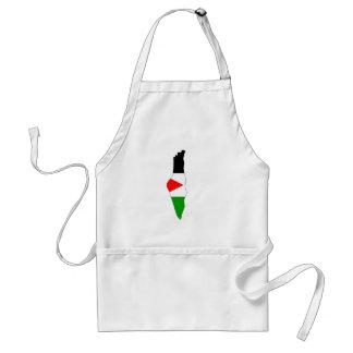 Palestine flag map standard apron