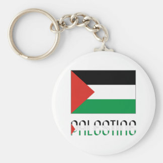 Palestine Flag & Name Key Ring